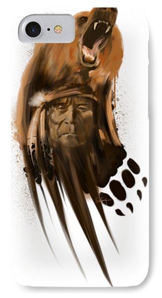 Grizzly Bear iPhone 7 Case - Bear Spirit  by Sassan Filsoof
