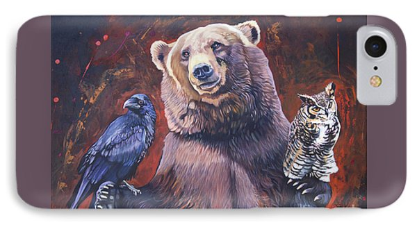 Bear The Arbitrator IPhone Case by J W Baker