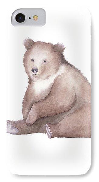 Bear Watercolor IPhone Case by Taylan Apukovska