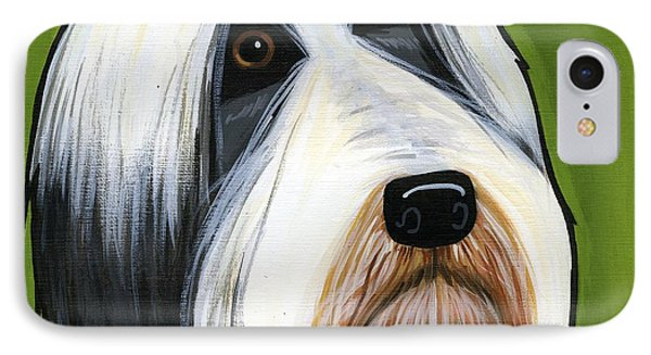 Bearded Collie Phone Case by Leanne Wilkes