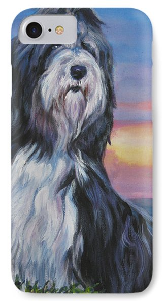 Bearded Collie Sunset Phone Case by Lee Ann Shepard