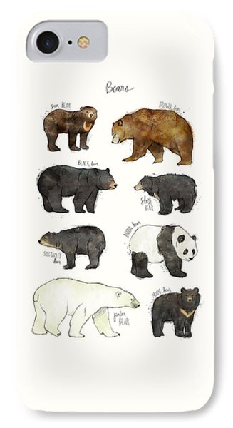 Bears IPhone Case by Amy Hamilton