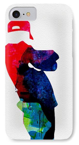 Beasty Watercolor IPhone Case by Naxart Studio