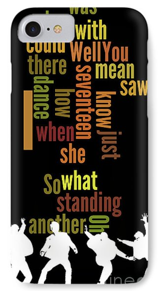 Beatles, Can You Guess The Name Of The Song? Game For Music Fans.i Saw Her Standing There IPhone Case by Pablo Franchi