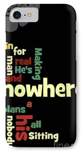Beatles, Can You Guess The Name Of The Song? Nowhere Man IPhone Case by Pablo Franchi