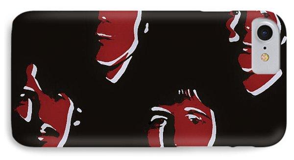 Beatles Pop Art  IPhone Case by Dan Sproul