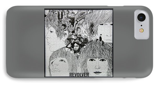 Beatles Revolver Puzzle IPhone Case by Steve Gass