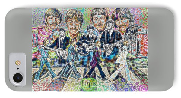 Beatles Tapestry IPhone Case by Dave Luebbert