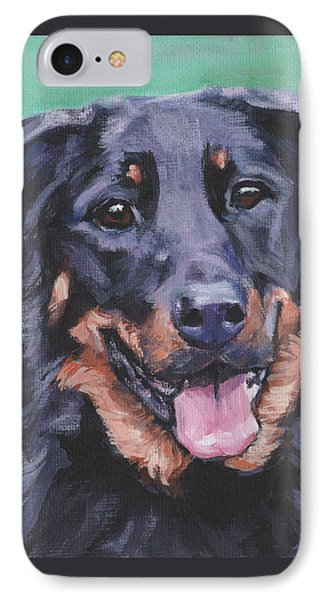 IPhone Case featuring the painting Beauceron Portrait by Lee Ann Shepard