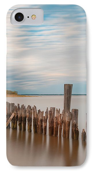 IPhone Case featuring the photograph Beautiful Aging Pilings In Keyport by Gary Slawsky