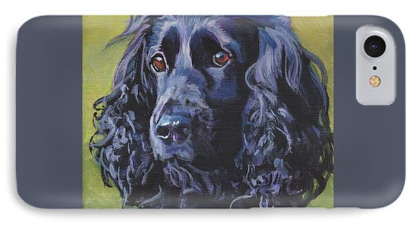 IPhone Case featuring the painting Beautiful Black English Cocker Spaniel by Lee Ann Shepard