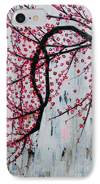 IPhone Case featuring the painting Beautiful Blossoms by Natalie Briney
