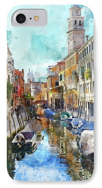 Beautiful Boats In Venice, Italy IPhone Case