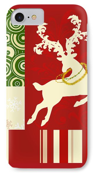 Modern Christmas II Modern Holiday Art Series IPhone Case