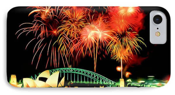 Beautiful Colorful Holiday Fireworks 2 Phone Case by Lanjee Chee