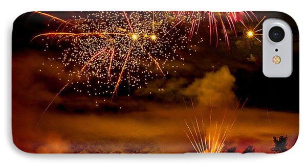 Beautiful Fireworks IPhone Case by Robert Bales