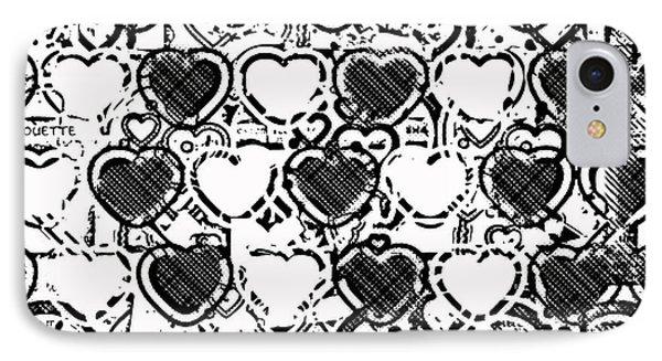 Beautiful Hearts Bw IPhone Case