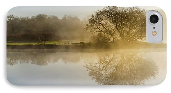 IPhone Case featuring the photograph Beautiful Misty River Sunrise by Christina Rollo