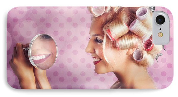 Beautiful Model With Fresh Makeup And Hairstyle IPhone Case by Jorgo Photography - Wall Art Gallery