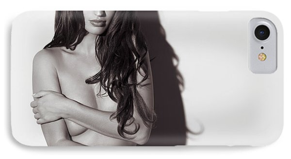 Beautiful Naked Woman Standing At A Wall Phone Case by Oleksiy Maksymenko