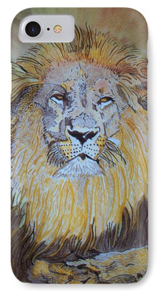 IPhone Case featuring the painting Beautiful Pose Of The King by Connie Valasco