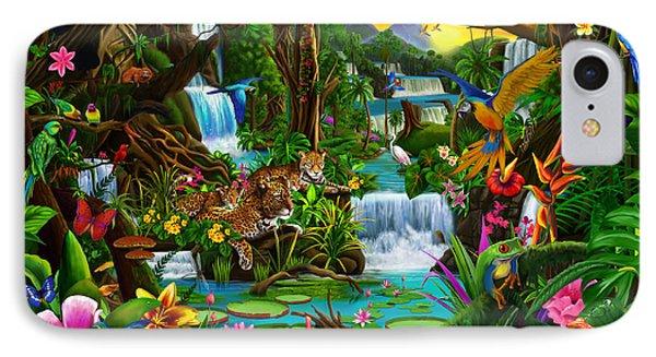 Toucan iPhone 7 Case - Beautiful Rainforest by Gerald Newton
