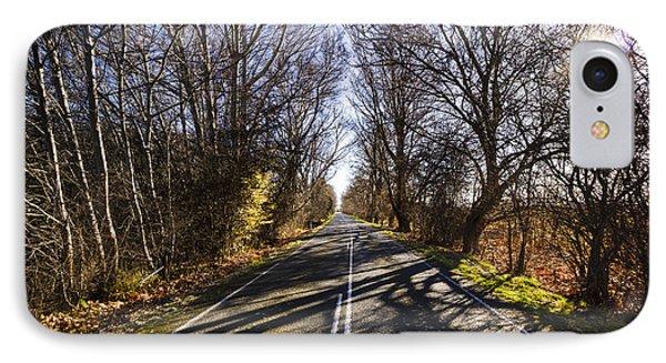 Beautiful Roads In Winters Shadow IPhone Case