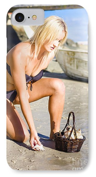 Beautiful Sexy Woman On A Nature Hunt And Gather IPhone Case by Jorgo Photography - Wall Art Gallery