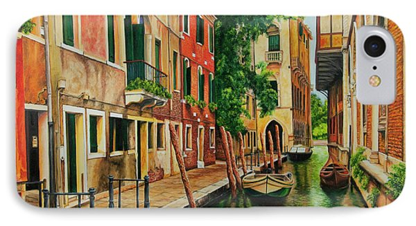 Beautiful Side Canal In Venice Phone Case by Charlotte Blanchard