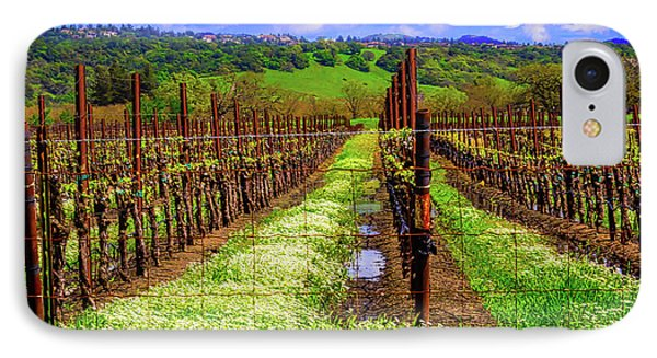 Beautiful Spring Vinyard IPhone Case by Garry Gay