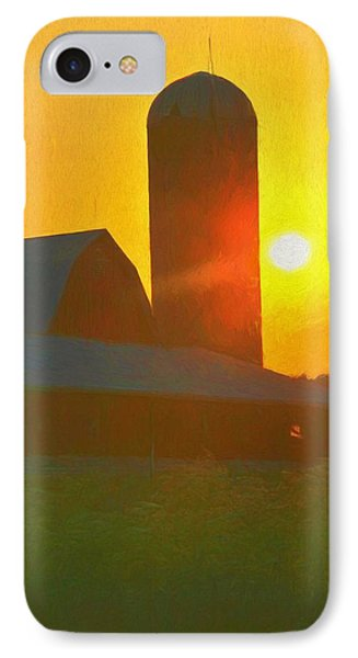 Beautiful Sunrise Over The Farm IPhone Case by Dan Sproul