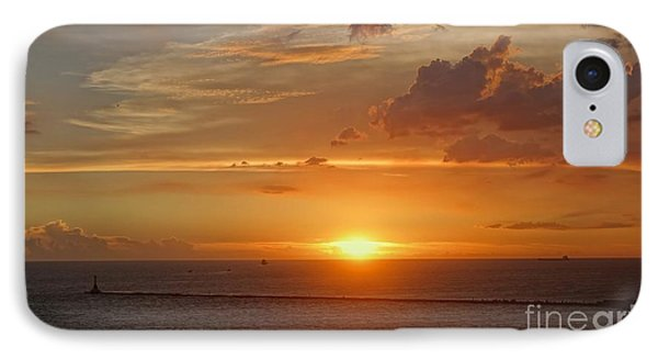 IPhone Case featuring the photograph Beautiful Sunset At Kaohsiung Harbor by Yali Shi