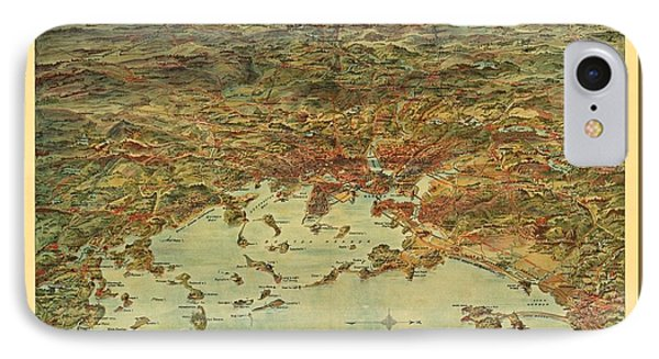 Beautiful Vintage Full Color Map Of The City Of Boston IPhone Case by Pd
