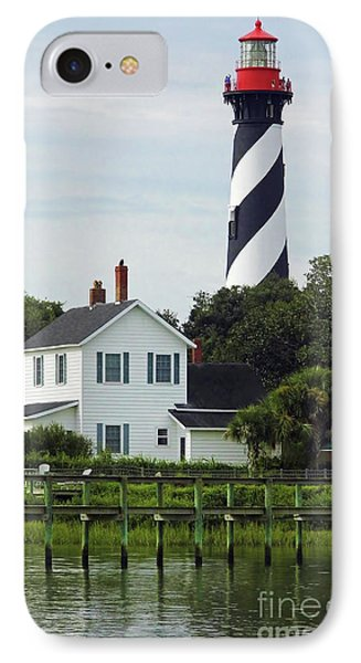Beautiful Waterfront Lighthouse IPhone Case by D Hackett