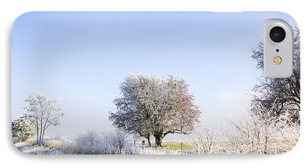 Beautiful Winter Background With Snow Tipped Trees IPhone Case by Jorgo Photography - Wall Art Gallery
