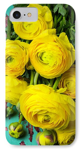 Beautiful Yellow Ranunculus IPhone Case by Garry Gay