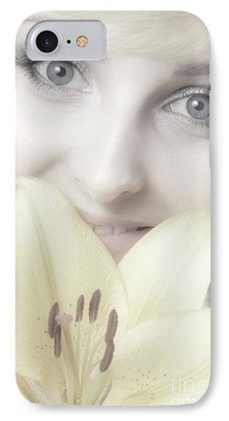 Beautiful Young Woman With A Yellow Lily Phone Case by Oleksiy Maksymenko