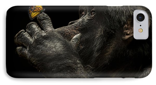 Chimpanzee iPhone 7 Case - Beauty And The Beast by Paul Neville