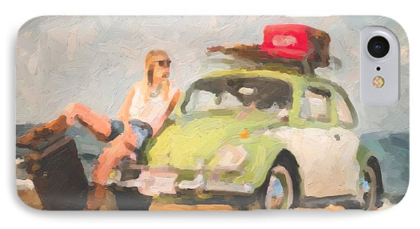 IPhone Case featuring the digital art Beauty And The Beetle - Road Trip No.1 by Serge Averbukh