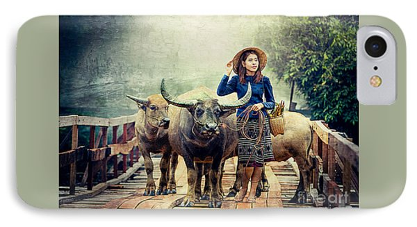 Beauty And The Water Buffalo IPhone Case