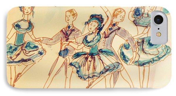 Beauty In Blue Ballet  IPhone Case by Judith Desrosiers