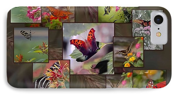Beauty In Butterflies IPhone Case by DigiArt Diaries by Vicky B Fuller