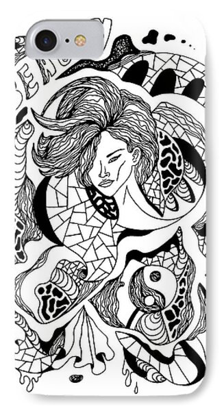 Beauty Of Lines IPhone Case by Kenal Louis