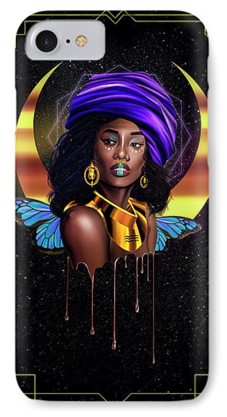 Beauty Queen Tia IPhone Case by Kenal Louis