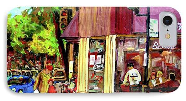 Beautys Luncheonette Montreal Diner Phone Case by Carole Spandau