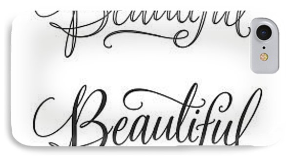 Beauul Lettering - Ai IPhone Case by Gillham Studios