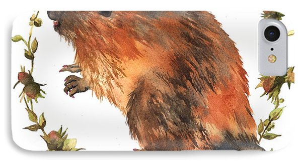 Beaver Painting IPhone 7 Case by Alison Fennell