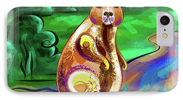 Beaver Pose IPhone Case by Bedros Awak