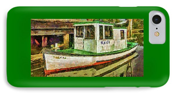 Beaver The Old Fishing Boat IPhone Case by Thom Zehrfeld