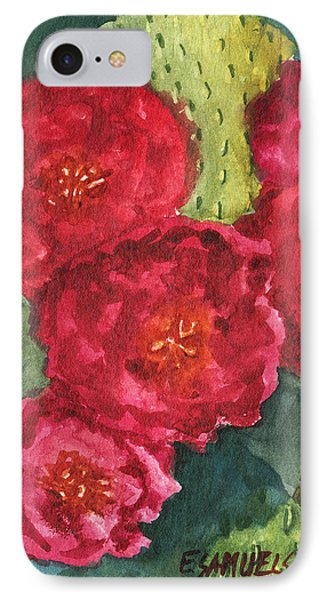 IPhone Case featuring the painting Beavertail Cactus by Eric Samuelson